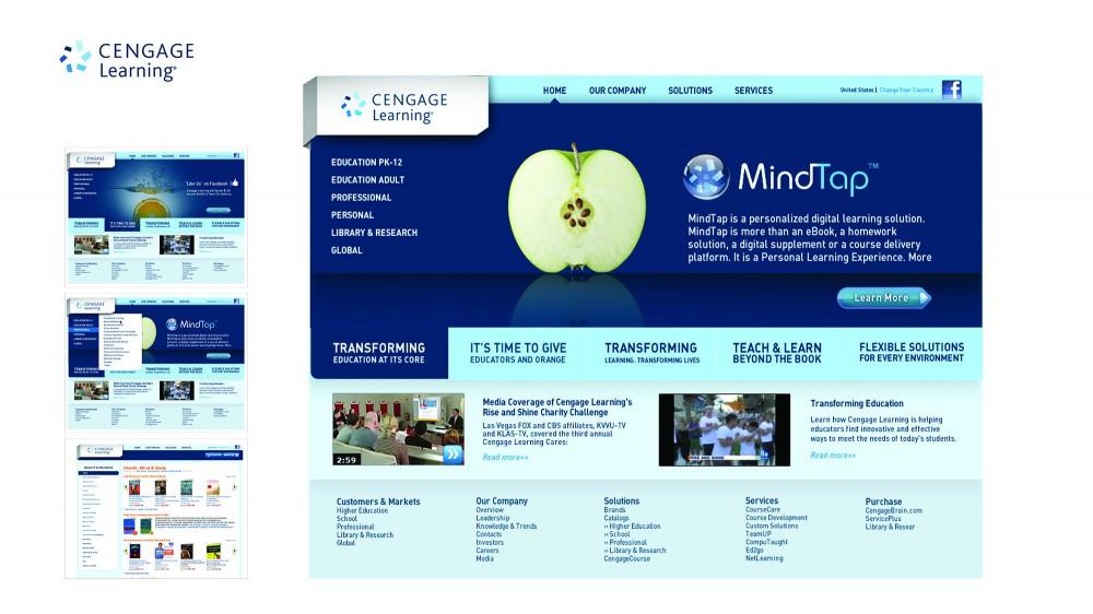 Cengage DRIVEN web site design