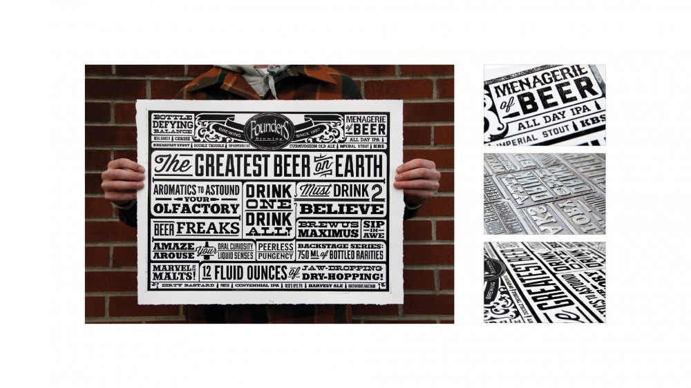 Founders Letter Press Poster DRIVEN